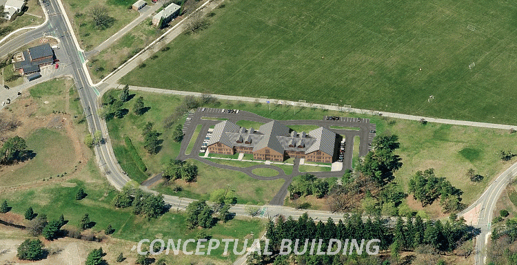 Conceptual building on 205 Jackson Road, Devens site