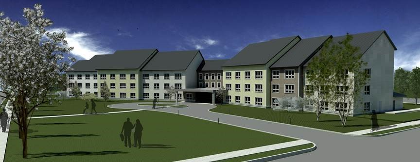 Architectural rendering of Shirley Commons courtesy of  Dietz & Company Architects, Inc.